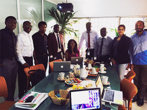 Cross session of Digital Marketing Masterclass participants from Dana Airlines, KIA Motors and Renault Motors flaked by course instructors; Semira Mahmud, Michael Ernest and Jerry Oche at the Street Toolz Digital Centre, Ikeja Lagos, Nigeria.
