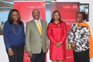 L-R:  Senior Consultant, Client Services, The Quadrant Company, Mrs. Tosin Adefeko; Chairman, Tequila Nigeria Limited, Mr. George Thorpe; Managing Partner, Brandzone and Convener, Brand Innovation Conference, Mrs. Chizor Malize and Chief Operating Officer, 141 Worldwide, Mrs. Bunmi Oke at the Brand Innovation Conference Press Briefing held at the GRA, Ikeja, Lagos