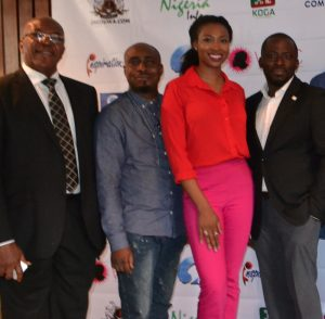 Soni Irabor (CEO Inspiration FM), Owen Gee (Ace Comedian), Bolanle Olukanni (Ebony Live TV), Kayode Odukoya (Head Coordinator, WEEC) at the WEECman 2015 Conference in Unilag
