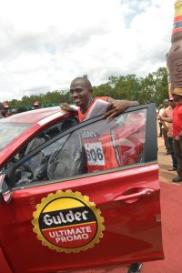Chinedu Odimgbe, winner of a brand new Hyundai Elantra car of 'The Chase' leg of the 2015 edition of the Gulder Ultimate Promo