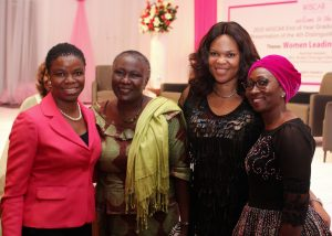 L-R: Yewande Sadiku, Executive Director, Stanbic IBTC Bank , Prof. Remi Sonaiya; first female presidential candidate, Lynda Saint-Nwafor; Chief Technical Officer, MTN Nigeria and Mrs. Amina Oyagbola; founder Women in Successful Careers (WISCAR) at the WISCAR induction, graduation and award ceremony held in Lagos recently.