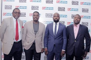 Olumide Ekisola, Principal Adejumo & Ekisola Law firm, (left), Rotimi Olaniyan,  EXMAN President, Audu Maikori, CEO Chocolate City and Ayo Elias, Vice Chairman Training & capacity building of Exman at the Experiential Marketers Association of Nigeria (EXMAN) organised practice group session on Intellectual Property Right and Experiential Marketing at Protea Hotel Maryland, Lagos