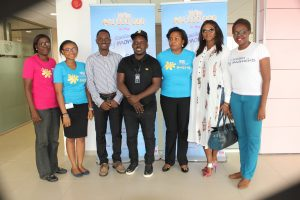 L-R: Category Manager, Mildred Bagshaw, Assistant Brand Manager, Cussons Baby, Tobi Adetunji, Head of Category & Channel Marketing, Jimi Taiwo, One of the judges, Jude Abaga (MI), Category Manager, Family Care, Faith Okoli, another judge, Waje Iruobe and Brand Manager Family Care, Oluwaseun Ayeni during the visit of Cussons Baby Moments Grow and Shine judges to the PZ Cussons headquaters in Lagos Recently