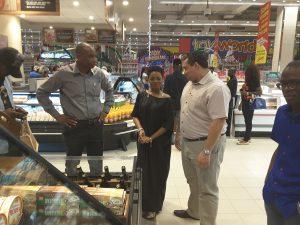 Chidinma Ekile unveiling new Shoprite store at Jabi Lake Mall, Abuja