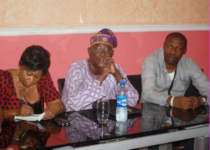 L-R: Special Assistant on Media to the NIPR President, Dr (Mrs) Grace Achum; an elder, Dr Sunday Ajayi and Mr. Basil Agboarumi at the NIPR Presidential Meeting with Fellows and Elders in Lagos Chapter held at GRA, Ikeja recently