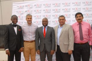 From left: Head, Brands and Corporate Communications, Deekay group, Mr. Damilola Owolabi ; Managing Director, Mr. Kavine Vaswani; Head, Human Resources, Mr. Soji Obasanya; Head of Sales, Mr. Christy Augustine; and General Manager, Mr Parmesh V. during the inauguration of Nexus office in Ibadan