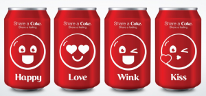 Currently campaign derives from the share a coke initiative