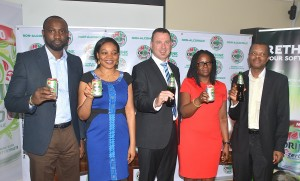 L-R: Customer Marketing Director, Mr. Obinna Anyalebechi; Marketing Manager, Innovation,  Ms. Omosefe Odaro; Marketing and Innovation Director, Mr. Gavin Pike; Portfolio Manager, Innovation & Planning Ms. Tayo Salami and Corporate Relations Director, Mr. Sesan Sobowale, all of Guinness Nigeria Plc., at the media launch of ORIJIN ZERO in Lagos yesterday at Protea Hotel GRA Ikeja