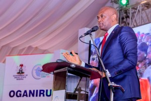 Tony Elumelu, Chairman, Heirs Holdings and UBA Plc, delivering keynote address at the Enugu Investment Summit