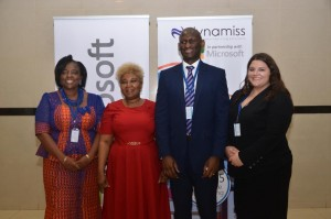 From Left: Hon Commissioner for Education, Anambra State, Prof Kate Omenugha; Director of ICT, Federal Ministry of Education, Mrs Uwem Asomugha; Public Sector Director, Microsoft Nigeria, Hakeem Adeniji-Adele; and Education Programs Manager, Microsoft Nigeria, Jordan Belmonte today in Civic Centre, V.I for the Future of Learning Conference organised by Microsoft in Partnership with Dynamiss.