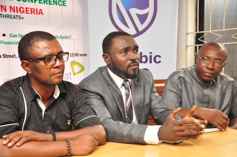L-R;Mr Goddie Ofose, chairman, Brand Journalists' Association of Nigeria (BJAN);Bennet Frimpong, marketing manager, personal and business banking, Stanbic IBTC and Mr Princewill Ekwujuru,Former Vice Chairman BJAN.PHOTO;AKEEM SALAU - 789marketing